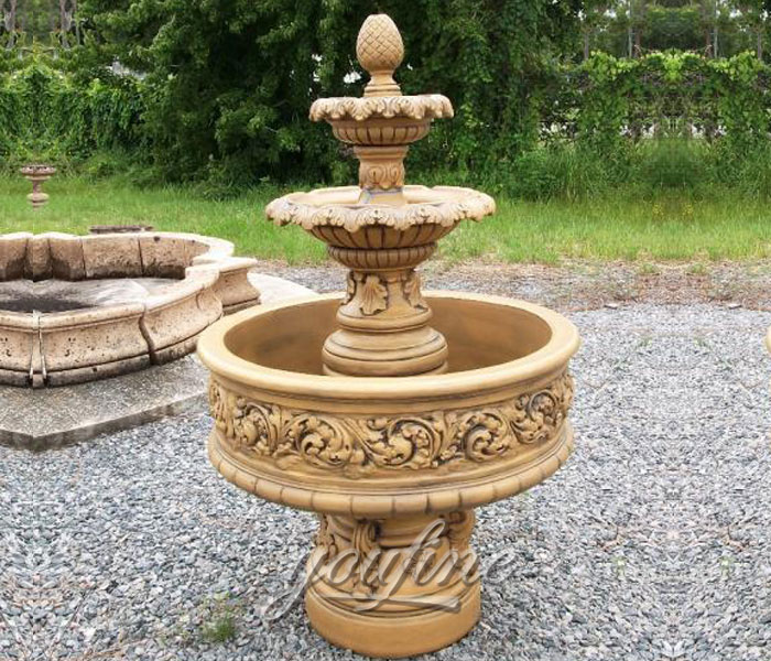 Small carved marble tiered water fountains outdoor for sale