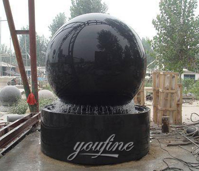Buying granite stone rotating ball water fountains outdoor for sale