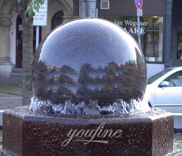 Buying outdoor casting stone ball garden fountain for sale