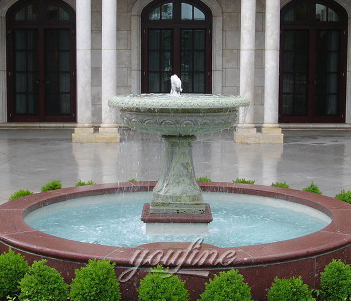 Small Tiered marble stone water home fountain for sale