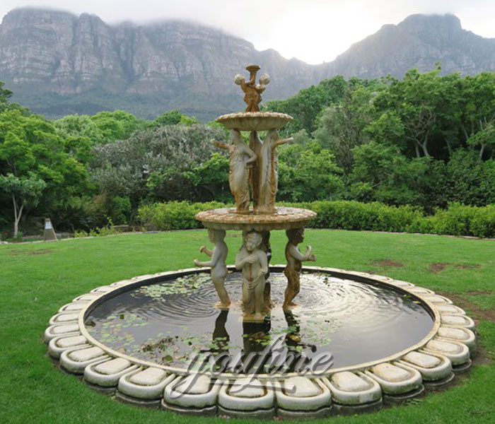 Outdoor antique stone tiered water fountains design for yard on sale