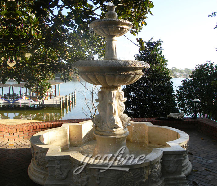 4 tier casting stone water fountain outdoor for sale